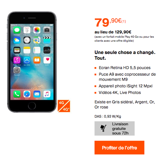 prix de revient iphone 5 orange sans abonnement. Black Bedroom Furniture Sets. Home Design Ideas