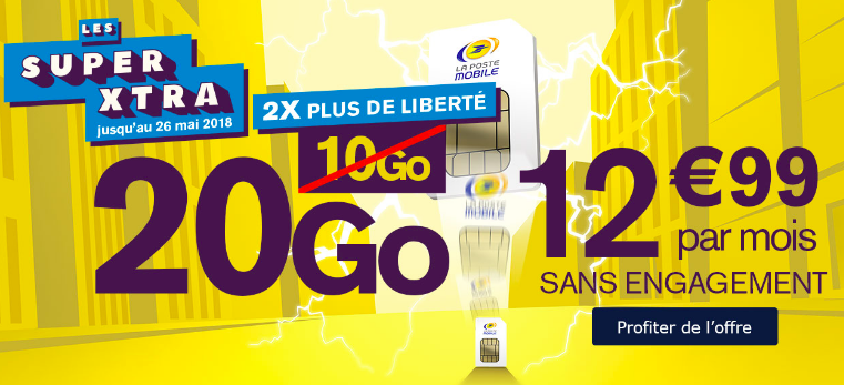 forfaits promotion la poste mobile.