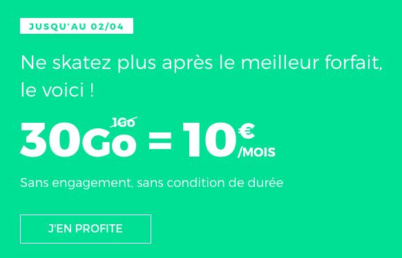 Le forfait mobile RED by SFR avec 30 Go de données mobiles.