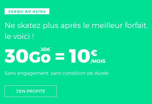RED by SFR met en vente son forfait 30 Go pour 10€.