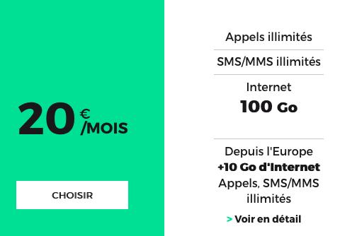 Cette formule permet d'accéder à 100 Go d'Internet.