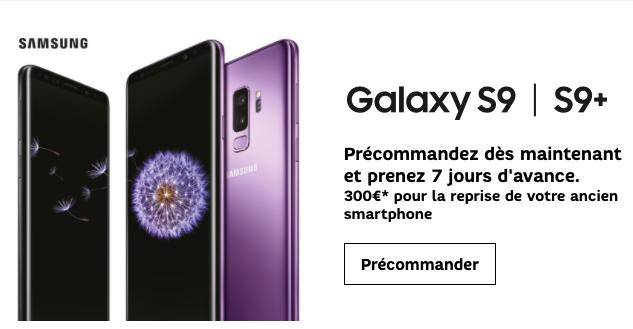 Quel forfait mobile choisir chez SFR pour un Samsung Galaxy S9 au meilleur prix ?