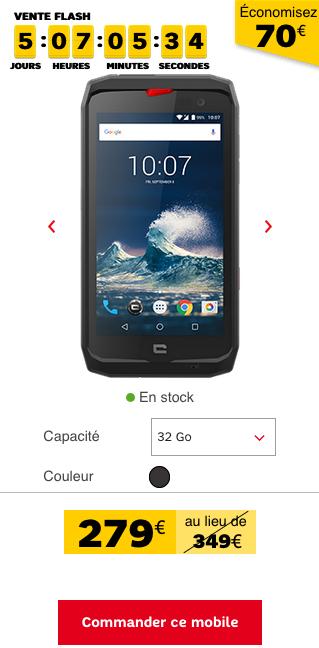 Un smartphone est en promotion dans les rayons de SFR.