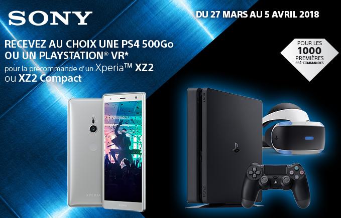 L'offre pour un Sony XZ2 Compact avec SFR.