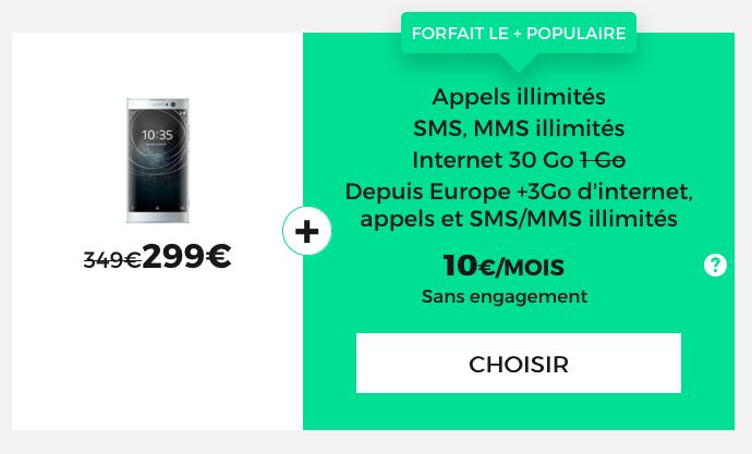 RED by SFR et son offre pour un forfait mobile à 30 Go.