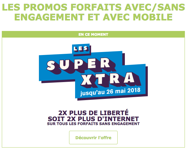 Promotions Super XTRA La Poste Mobile