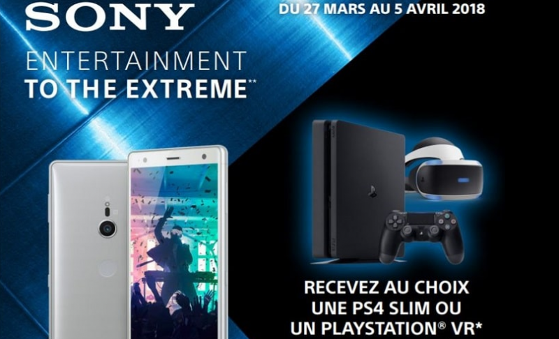 le bon plan du jour une ps4 offerte pour un xperia xz2 achet chez sfr. Black Bedroom Furniture Sets. Home Design Ideas