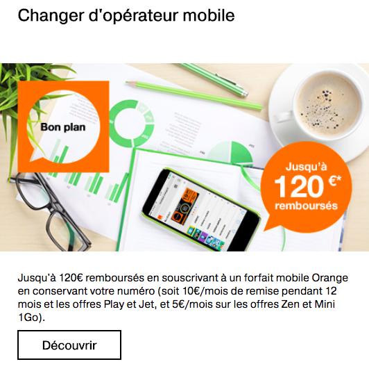 Économisez 120€ en conservant votre numéro avec Orange.