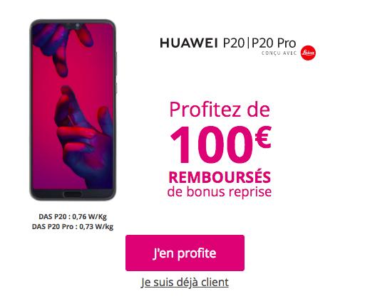 Un bonus de reprise de 100€.