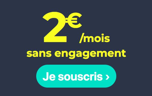 L'offre à 2€ de Cdiscount Mobile.