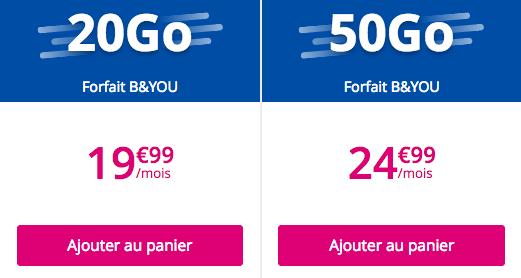 Le Galaxy A8 avec une offre B&YOU.