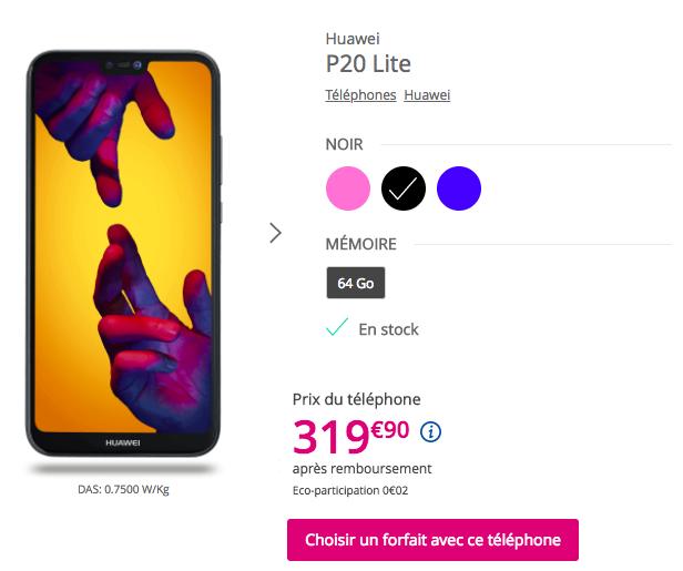 Huawei P20 Lite Bouygues telecom