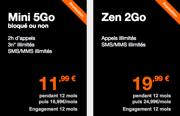 Les petits forfaits 4G Orange.