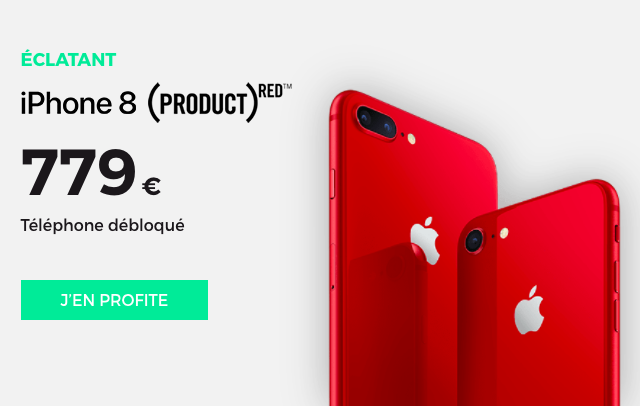 L'iPhone 8 RED édition.