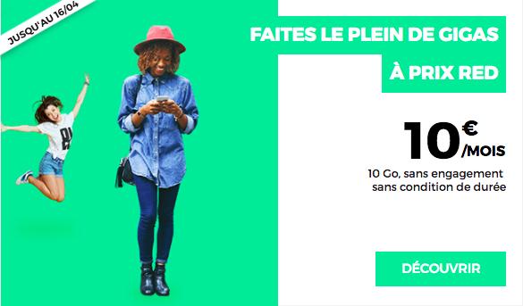 Le forfait 10 Go de RED by SFR.