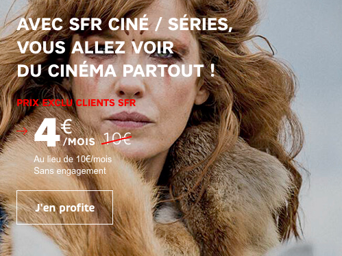 Choisir l'option SFR Ciné/Série.