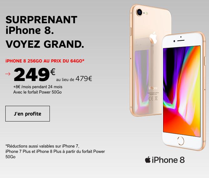 L'offre spéciale de SFR sur l'iPhone 8.