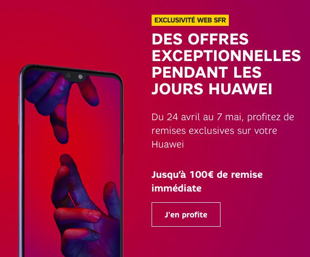 Jusqu'à 150€ de réduction sur les smartphones Huawei.