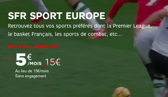 L'offre SFR Sport Europe