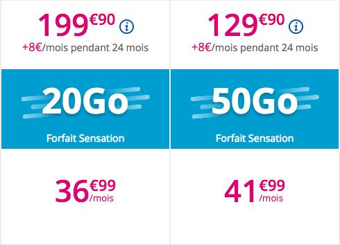 Les forfaits de Bouygues Télécom pour le Xperia XZ2.