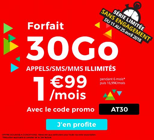 La promotion sur le forfait 3 Go de Auchan Telecom.