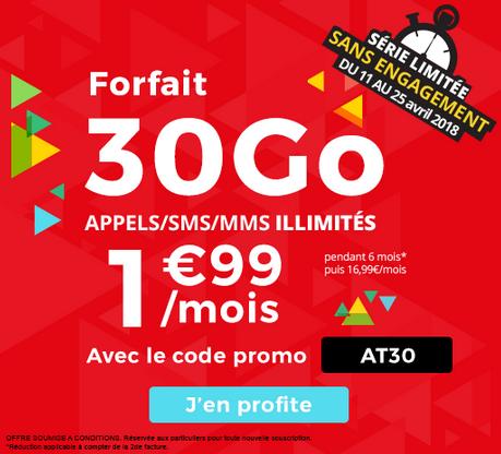Le forfait sans engagement Auchan Télécom en promotion.