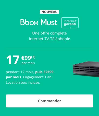La Bbox Must, l'outil internet de Bouygues Télécom.
