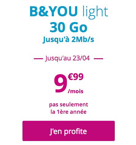 B&YOU et son forfait mobile à prix avantageux.