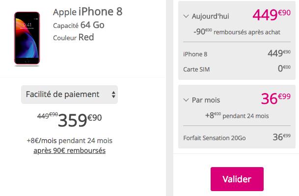 Acheter un iPhone RED chez Bouygues Telecom