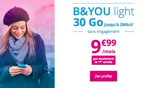 L'offre promo de Bouygues Telecom.