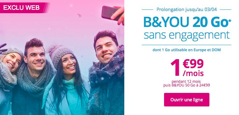 B&YOU lance régulièrement des forfaits mobiles en promotion.