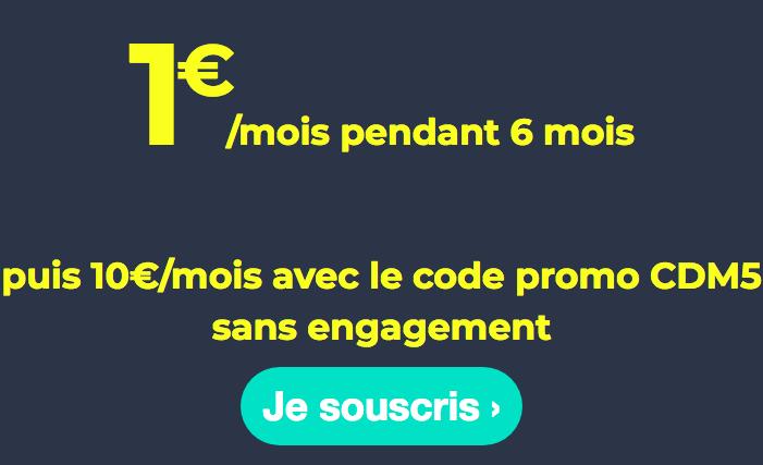 Le forfait de Cdiscount Mobile à 1€ par mois.