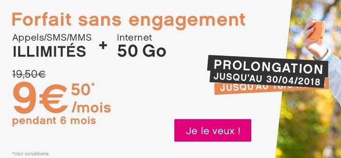 Un forfait mobile en promotion chez Coriolis Telecom.