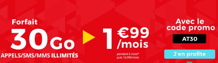 La belle promotion sur le forfait mobile d'Auchan Telecom.