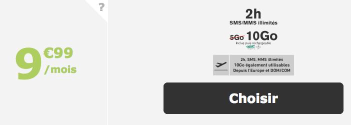 9,99€ pour un forfait de La Poste Mobile.