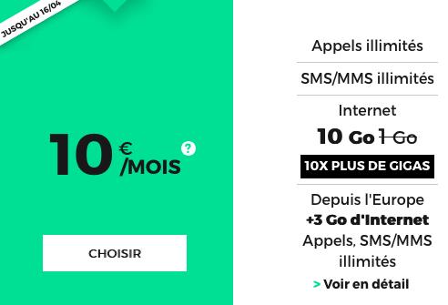 Des capacités à gogo pour ce forfait mobile de belle facture chez RED by SFR.