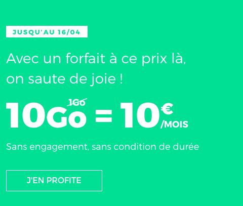 Le forfait mobile en promotion chez RED by SFR.