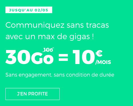 Le forfait mobile de RED by SFR en promotion.