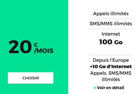 100 Go de données mobiles pour ce forfait attrayant de RED by SFR.