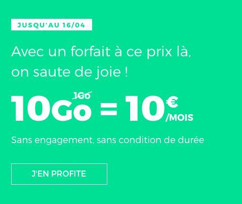 Le forfait RED by SFR en promotion chez l'opérateur.