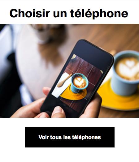 Les smartphones avec Orange.