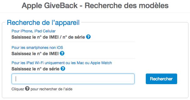 Le programme Apple GiveBack est disponible en France.