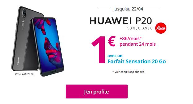 Le Huawei P20 en promotion chez Bouygues Telecom