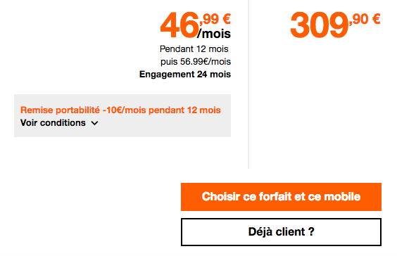 Un iphone rouge chez orange avec RED.
