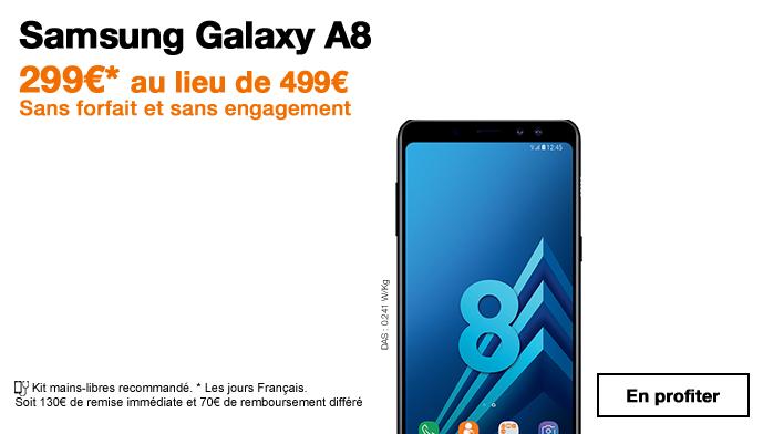 Le Samsung Galaxy A8 est en promotion chez Orange.