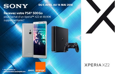 La promo sur la PS4 offerte chez Orange.