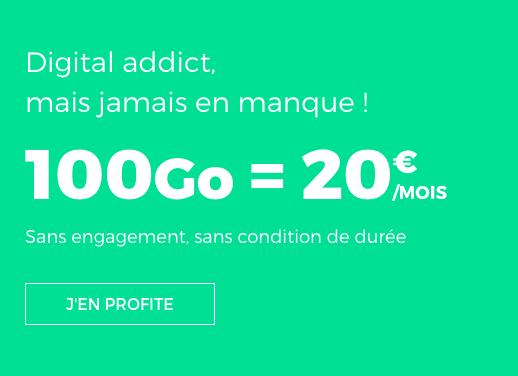 20€ pour ce forfait de RED by SFR.
