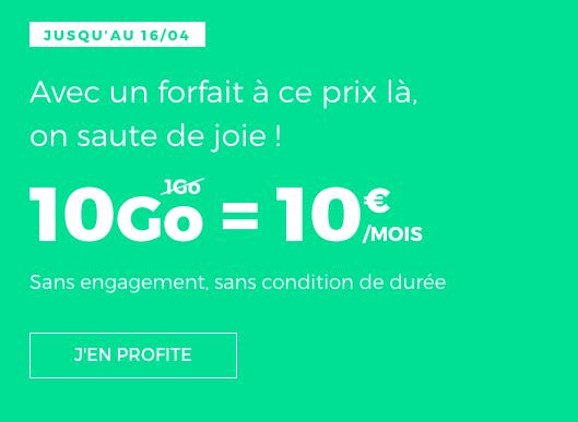 10€ pour 10 Go, le forfait irrésistible de RED by SFR.