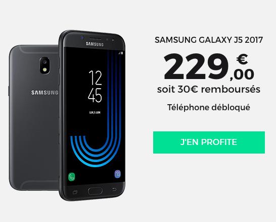 Le téléphone Samsung Galaxy J5 2017 en promotion.