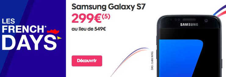 Le Samsung Galaxy S7 est disponible en promotion chez Sosh.